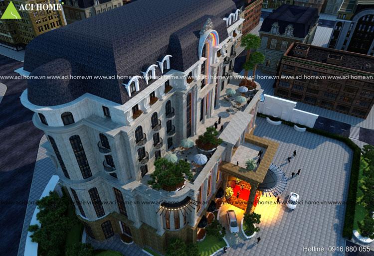 Thiết kế khách sạn cổ điển đẹp và sang trọng