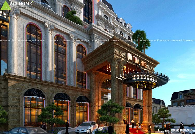 Sanh không gian khách sạn cổ điển Quý Toàn