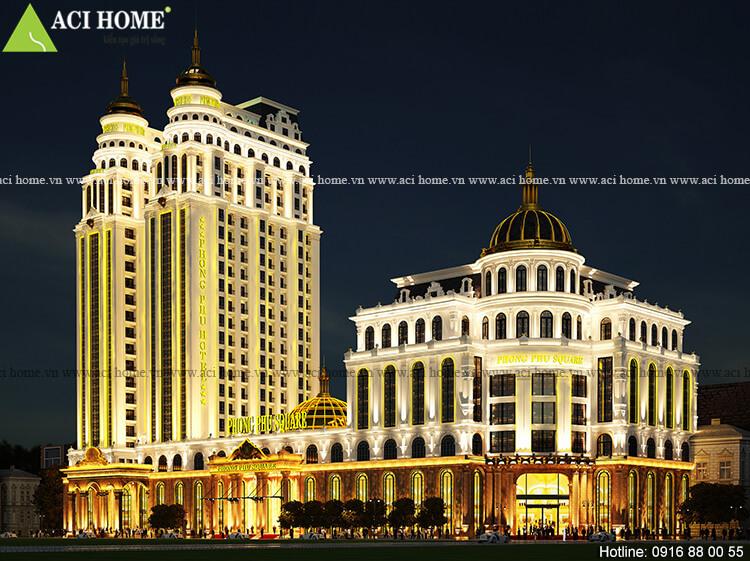 Thiết kế khách sạn kết hợp trung tâm thương mại tại Mong Cái